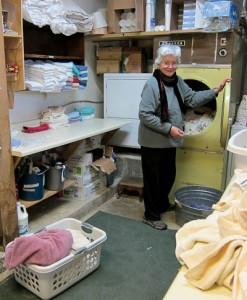 Chris doing laundry