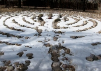 San G labyrinth in snow.jpg