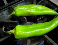Roasting chile for opening night dinner 2.jpg