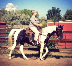 Jean on horse