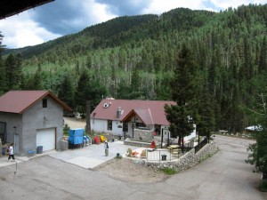 Columbine Inn view with walkers